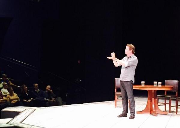 Sean Carroll Speaks at COPENHAGEN, photo by Taryn O'Neill