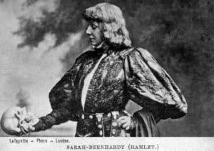 Sarah Bernhardt at Hamlet