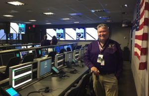 Bill Knopf inside of Mission Control