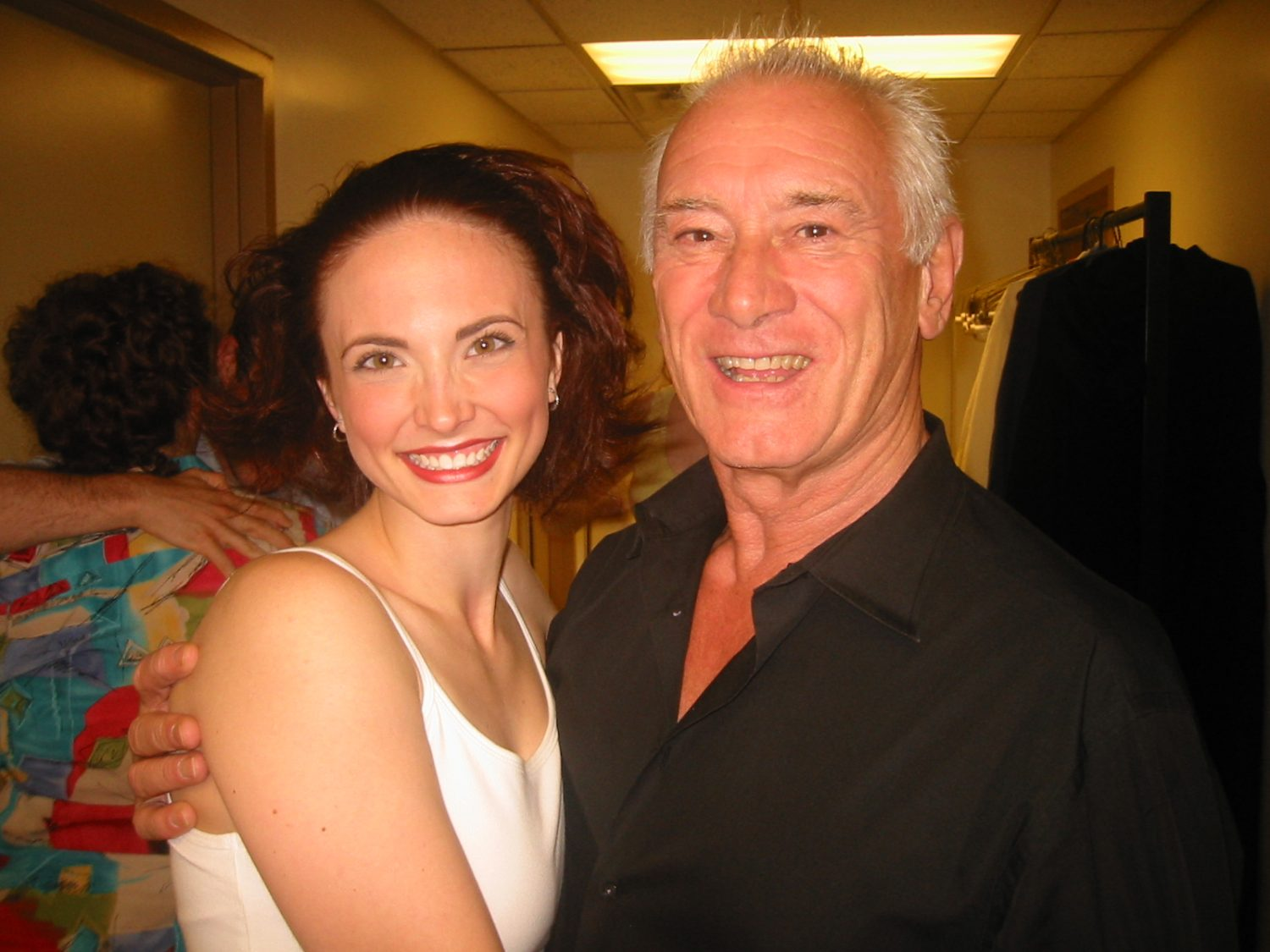 Backstage at Shakespeare Theatre Company with director Keith Baxter in Washington, DC, 2008